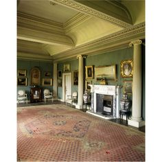 Hovingham Hall ~ the Ionic Room at Hovingham in Yorkshire.  Owned by the same family for 450 years.