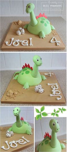 Bone letters on Dinosaur cake Dragon Birthday Parties, Dinosaur Birthday Cakes, Dinosaur Cake, Birthday Cake Girls, Dinosaur Party, Birthday Fun, Birthday Ideas, Cake Decorating For Kids, Dino Cake