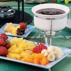 Chocolate Pecan Fondue Recipe   Taste of Home Recipes