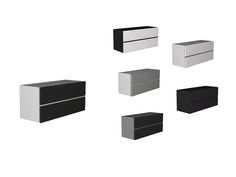 Black White Living - Wall Cabinet Found in TSR Category 'Sims 4 Miscellaneous Surfaces'