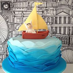 Where the Wild Things Are Cake. Max in his boat. I made the cake topper using fondant icing.