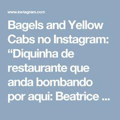 """Bagels and Yellow Cabs no Instagram: """"Diquinha de restaurante que anda bombando por aqui: Beatrice Inn no West Village é um paraíso para os carnívoros! Ambiente badaladinho…"""""""