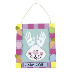 Handprint Easter Bunny Kit from Oriental Trading