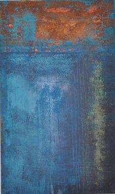 Rost, Edelrost, rust, abstract painting, abstrakte Kunst, abstrakte Malerei, Acrylmalerei, 100 x 60 x 3 cm, Raut