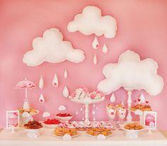 babyshower rosa mesa dulces