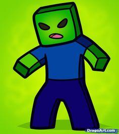 How to Draw a Minecraft Zombie, Minecraft