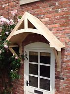 """Details about Timber Front Door Canopy Porch, """"CROSSMERE""""Hand made Shropshire awning canopies - Hkkcmzh Front Door Awning, Porch Awning, Porch Roof, Exterior Front Doors, Garage Doors, Diy Awning, Outdoor Window Awnings, Front Porch Pergola, Metal Door Awning"""