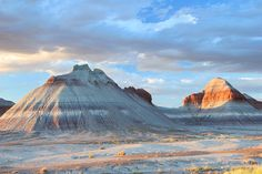 """Driving old Route 66 don´t miss the """"Tepee Rock Formations"""" at the Petrified Forest!"""