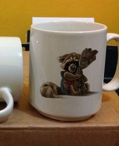 groot and rocet racon guardian for coffee Mug Two Sides Ceramic 11oz