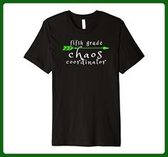 Mens Funny 5th Fifth Grade Teacher Shirt - Chaos Coordinator XL Black - Careers professions shirts (*Amazon Partner-Link)