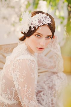 Jannie Baltzer Couture Headpieces 2014 Collection. www.theweddingnotebook.com