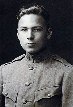 Picture of Frank W. Buckles in 1917 (age 16). He was the last surviving American veteran of WWI. He served as an ambulance driver during the war in France. During World War II, he was captured by Japanese forces while working in the shipping business, and spent three years in the Philippines as a civilian prisoner. After the war he married. A widower at age 98, he worked on his farm until the age of 105. He died on Feb. 27, 2011 at the age of 110 years, 26 days.