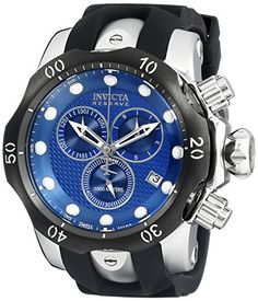 Men's Wrist Watches - Invicta Mens 16149 Venom Analog Display Swiss Quartz Black Watch -- You can find more details by visiting the image link.