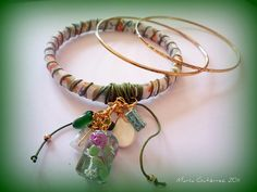 "Pulseras ""Guindalejos"" Bangles, Bracelets, Jewelry, Lanyards, Bias Tape, Ornaments, Jewelery, Jewlery, Jewels"