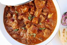 Laal Maas: mutton curry with Kashmiri chillies and onion. | maunika gowardhan