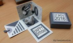 stampin up, explosion box, geology, 30. birthday