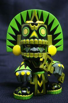 "SpankyStokes.com | Vinyl Toys, Art, Culture, & Everything Inbetween: ""Jungle"" Mictlan from Jesse Hernandez"