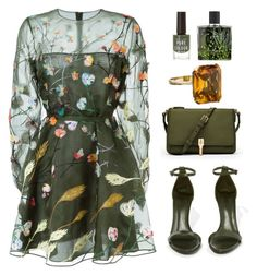 """""""Green Nation"""" by nuetralvibe ❤ liked on Polyvore featuring Valentino, New Look, Schutz, Nest and Elizabeth and James"""