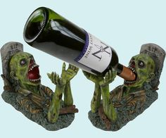 Zombie 'Guzzlers' Wine Bottle Holder by Nemesis Now