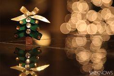 Christmas-tree barrette