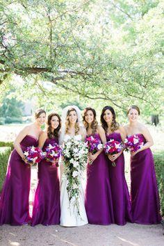 Love that color. Don't think i want the bridesmaids to have long dresses, though Jewel-toned 'maids: http://www.stylemepretty.com/2015/03/10/romantic-morton-arboretum-wedding-2/   Photography: Kristin La Voie - http://kristinlavoiephotography.com/