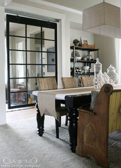 Glass cabinets cabinet knobs and drawer pulls on pinterest for Jones design company dining room