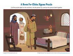 A Room for Elisha Jigsaw Puzzle - Children's Bible Activities | Sunday School Activities for Kids
