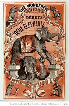 Performing the wonderful elephants trained and performed by James C. Edmonds, 1875.  http://europeana.eu/portal/record/9200103/F95E92DEAFFEE6A7C91DA3F046BBC66335653A0B.html