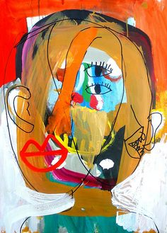 face   acrylic painted on paper.. shohei hanazaki's web page…   Flickr