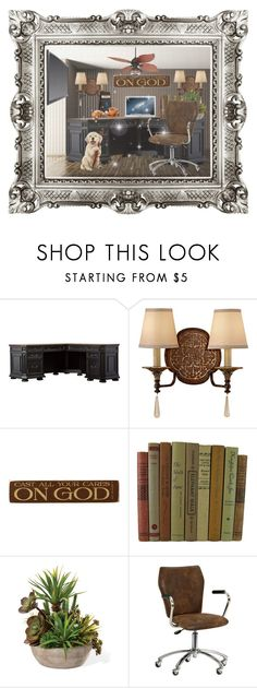 """""""Untitled #8238"""" by princhelle-mack ❤ liked on Polyvore featuring interior, interiors, interior design, home, home decor, interior decorating, Feiss, DutchCrafters, PBteen and Casa Vieja"""