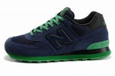 Joes New Balance ML574NKK Sneakers Sole Neon Deep Blue Green Black Mesh Suede Mens Shoes