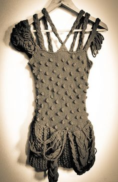 Vestido: Amazing creation by Marie Tchibi (crochet and knitting ) knitwear