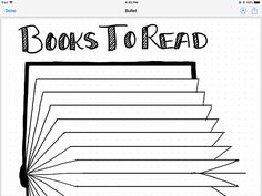 "Bullet journal layout for a ""books to read"" list. Printable, or for use as template in apps like GoodNotes..54"