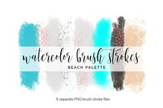 Brush Strokes Clipart - beach by Blush Marble Studio on @creativemarket