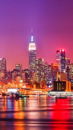 America Images, New York Night, New York Winter, World Cities, Street Photographers, City Buildings, City Lights, Empire State Building, New York City