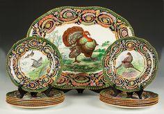 copeland platter | Lot 416: Copeland Spode Turkey Platter with 12 Dinner Plates