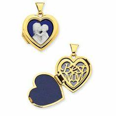14k Mother holding child Cameo 18mm Heart Locket - JewelryWeb JewelryWeb. $252.70. Save 50%!