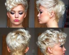 blonde curly pixie