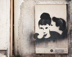"Paris Photography, ""Graffiti, Kiss"" French Art Print, Black Wall Art, Paris Print, Nichole Robertson"