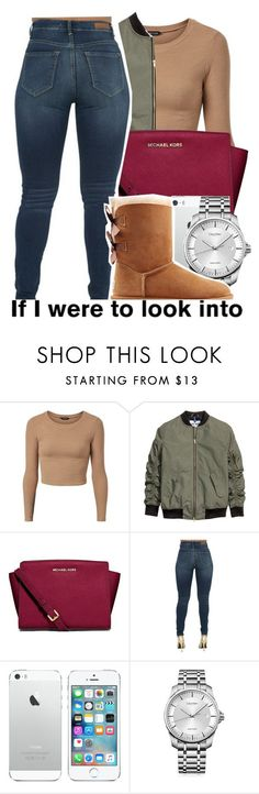 Untitled #64 by melaninpops ❤ liked on Polyvore featuring MICHAEL Michael Kors, Calvin Klein and UGG Australia