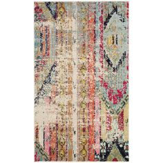 Safavieh Monaco Vintage Bohemian Multicolored Distressed Rug (2' 2 x 4') (MNC222F-24), Multi, Size 2' x 4' (Polypropylene, Abstract)