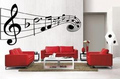 Art MUSIC Musical NOTES large removable Vinyl Wall Quote Decal Home Decor #Newclew