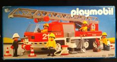 Vintage Playmobil Fire Engine Fire Truck 3781 Ultra Rare 1990 Geobra W. Germany in Toys & Games, Pre-School & Young Children, Playmobil | eBay