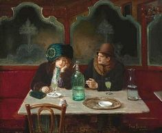 """""""Cafe Society"""" oil on Canvas. Jean-Georges Beraud"""