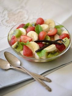 Fruit Macedonia with Vanilla Syrup: Cool down with a sweet rainbow of fresh seasonal fruit