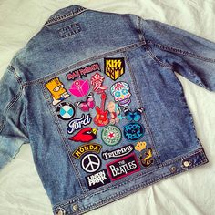 Reworked Vintage Denim Jacket with Patches by KodChaPhorn on Etsy