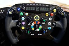 """2013 Lotus F1 steering wheel. Complete with an ice cream button for Kimi and a """"Jenson button!"""""""