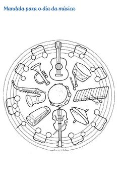 Music Worksheets, Worksheets For Kids, Colouring Pages, Coloring Books, Circle Art, Music Artwork, Elementary Music, Music Classroom, Teaching Music