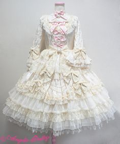 """Angelic Pretty - Dressy Time Dress OP (2016) in Pink, Ivory, Wine and Black """
