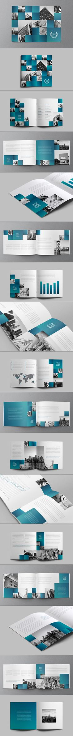 Architecture Squares Brochure by Abra Design, via Behance